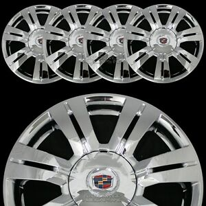 4 Chrome 2010 2016 For Cadillac Srx 18 Wheel Skins Center Hub Caps Rim Covers