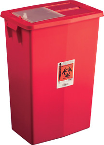 Sharpsafety Large Volume Containers Sliding Lid 18 Gallon Part No 8938 5 case