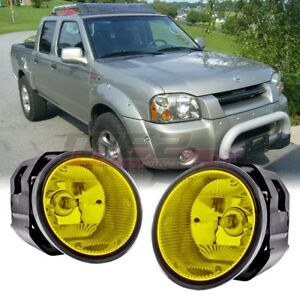 For 01 04 Nissan Frontier Pair Oe Factory Fit Fog Light Bumper Kit Yellow Lens