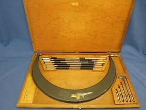 Tumico M3 Lnr 18 24 Tubular Outside Micrometer Set W Wood Case