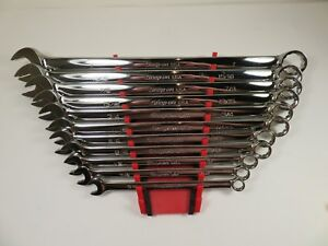 Snap on New 11 Pc Long 12 point Flank Drive Plus Combo Wrench Set Soexl707b Plus