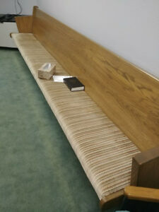 10 Solid Wood With Padding Church Pews 15 Foot Long 120 Each