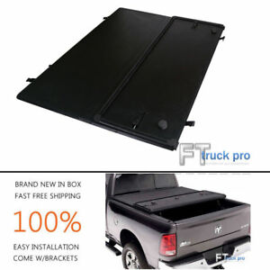 Tri foldable Hard Solid Tonneau Cover For 1999 2006 Chevy Silverado 6 5ft Bed