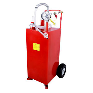 New 30 Gallon Gas Caddy Tank Fuel Storage Gasoline Fluid Diesel With Pump