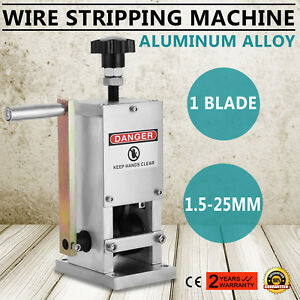 Cable Wire Stripping Machine Metal Tool Manual Hand Hand Crank Great Best Price