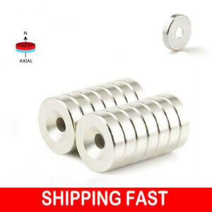 1 100 Strong Countersunk Ring Magnets 12 X 3mm Rare Earth Neodymium 3mm Hole Hot