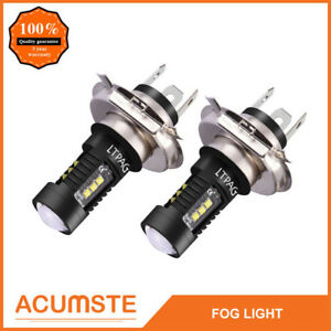 2 H4 9003 Hb2 6000k 100w Led Cree Projector Fog Driving Drl Light Bulb Hid White