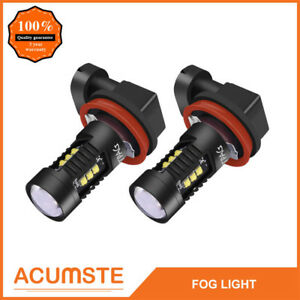 2x Cree H11 H8 H9 160w Led Fog Light Bulbs Car Driving Lamp Drl 6000k Hid White