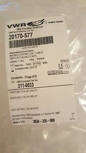 Vwr 1 7ml Micro centrifuge Tubes With Attatched Caps 20170 577 5000 Per Case