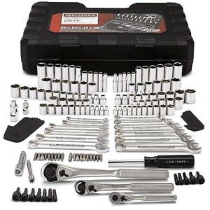 Craftsman Tool Set 165 Piece Auto Mechanics Case Metric Ratchet Wrench Socket