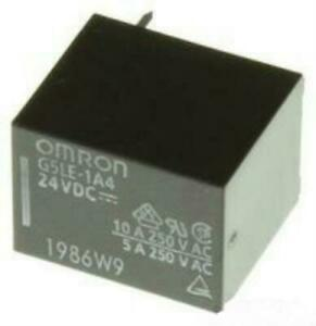 Omron G5le 1a4 e Dc24 Pcb Mount Power Relay Spst 250v 10a Contacts 24vdc new