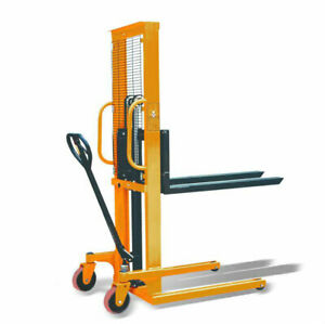 Toolots Manual Pallet Stacker 2200lbs Capacity 63 Lift Height 8 8 28 7 W Fork