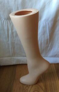 Vintage Stocking Display Mannequin Leg Shoe Form Rpm Industries Auburn Ny