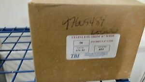 Tbi Stainless Steel Shim Stock Roll 031 X 6 X 50