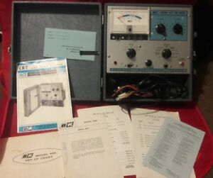 Dynascan B k Precision Model 465 Crt Tester With Attachments And The Paperwork