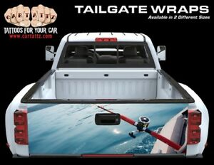 Fishing Truck Tailgate Vinyl Graphic Decal Wrap