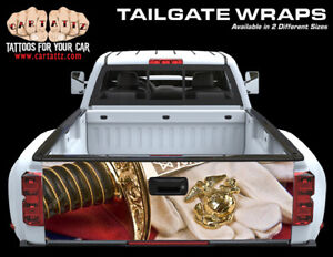 Marines Truck Tailgate Vinyl Graphic Decal Wrap