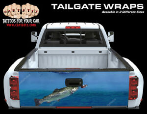 Fish Jumping Truck Tailgate Vinyl Graphic Decal Wrap