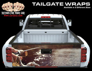 Fishing And Boat Truck Tailgate Vinyl Graphic Decal Wrap