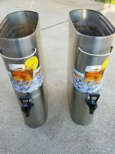 Bunn Commercial Restaurant Tdo 3 5iced Tea Dispenser Coffee Lot Of Two