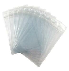 Fushing Pack Of 100 Clear Plastic Vertical Badge Holders Name Tag Holders Card