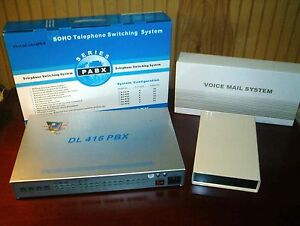 Small Business Telephone System Pabx Voice Mail Combo Auto Attendant New