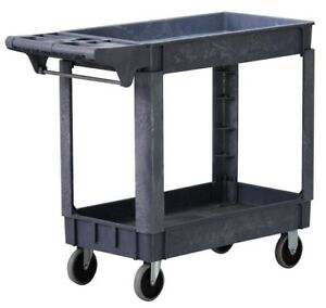 Automotive Service Cart Auto Large Garage Cleaning Utility Heavy Duty Wheels