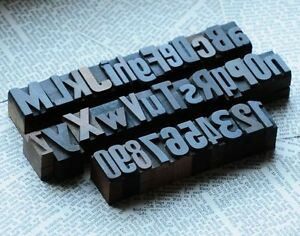 A z 0 9 Alphabet Number Letterpress Wood Printing Blocks Wooden Type Printers Ab