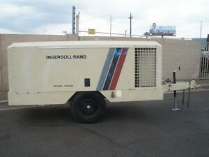 Ingersoll Rand 375 Cfm Towable Mobil Air Compressor Ex Condition