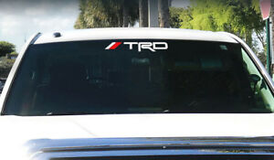 Trd Windshield Tacoma Tundra Off Road Racing Toyota 4x4 Decal Sticker Vinyl K