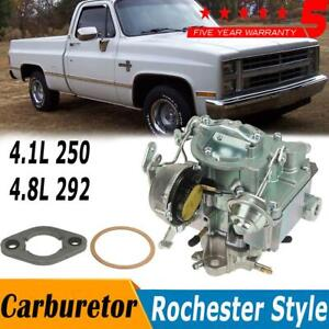 Upgraged Rochester Style 1 Barrel Carburetor For Chevy Gmc V6 Eingine 250