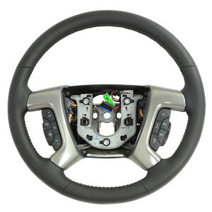 25995626 Steering Wheel Black Leather New Oem Gm 2009 Hummer H2