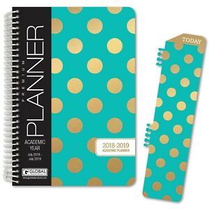 Hardcover Academic Year Planner 2018 2019 5 5x8 Daily Planner Weekl New