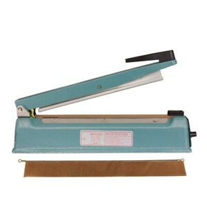 Toolots 12 Impulse Heat Poly Bag Sealer Ks 300i Hand operated Sealer Iron Shell