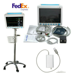 Contec Cms8000 Vital Sign Icu Patient Monitor capnograph Co2 trolley Stand cart