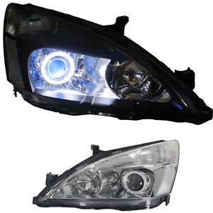 For Honda Accord 2003 07 2pcs L r Xenon Headlight Lamp Assembly Retrofit