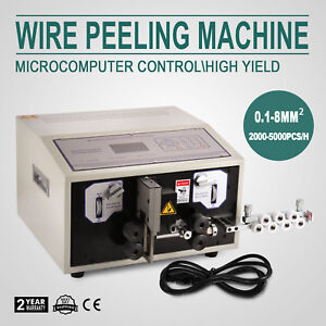 Computer Wire Peeling Stripping Cutting Machine 0 1 8mm Automatic Lcd Good