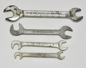 Vintage Plomb Misc 4 Piece Sae Ignition Open End Wrench Lot Wf Usa T309