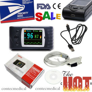 Cms60c 24h Finger Pulse Oximeter Spo2 Blood Oxygen Heart Rate Monitor usb alarm