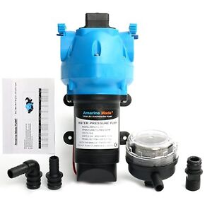 12v Water Pressure Self Priming Pump 2 9 Gpm 25psi With Built In Pressure Switch