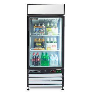 Maxx Cold Single 1 Glass Door Commercial Merchandiser Cooler Refrigerator 12cf