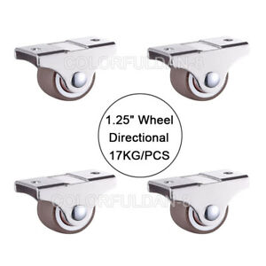 4x Mini 1 25inch Directional Caster Furnitur Replacement Wheels Loading 17kg pcs