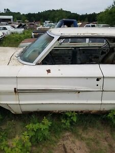 1964 Ford Galaxie 500 4dr Hardtop Drivers Front Door Chrome Trim Molding