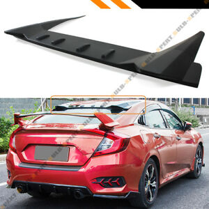 For 2016 18 Honda Civic 4dr Sedan Fk8 Type r Style Rear Roof Vortex Spoiler Wing
