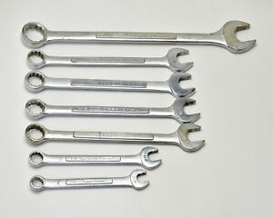 Craftsman Misc 7 piece Vintage v Series Sae Combination Wrench Lot Usa t317