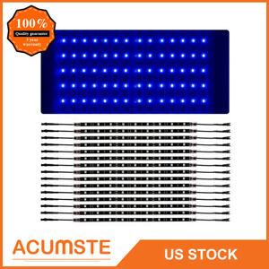 14x Blue Car Truck Underglow Under Body Neon Accent Glow Led Lights Kit 12 strip