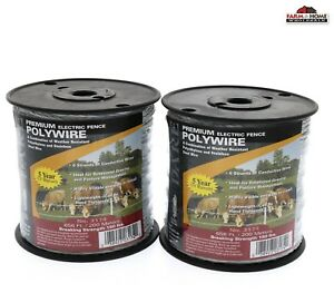 Electric Fence Wire Polywire 656 Ft 2 Pack New Ships Fast