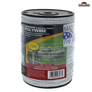 Electric Fence Wire Polywire White Dare 3177 1 312 Feet New Ships Fast