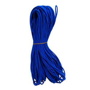 5mm Diameter Polyester Coated Rubber Uv Elastic Shock Cord Bungee Rope Tie Down