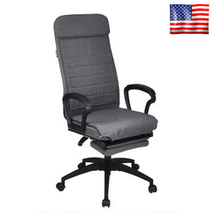 High Back Executive Office Chair Adjustable Swivel Computer Desk Seat Recliner